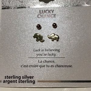 Lucky Change Sterling Silver 2pair earrings
